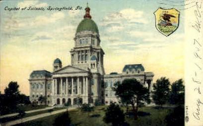 State Capitol - Springfield, Illinois IL Postcard