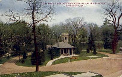 Oak Ridge Cemetery - Springfield, Illinois IL Postcard