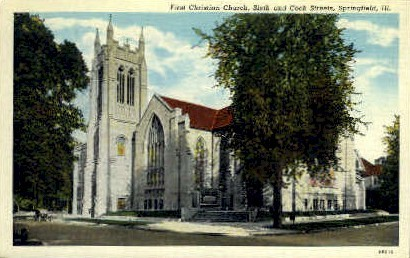 1st Catholic Church - Springfield, Illinois IL Postcard
