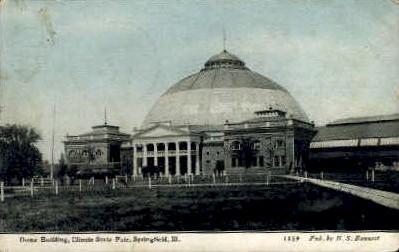 Dome Bldg. - Springfield, Illinois IL Postcard