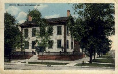 Lincoln Home - Springfield, Illinois IL Postcard