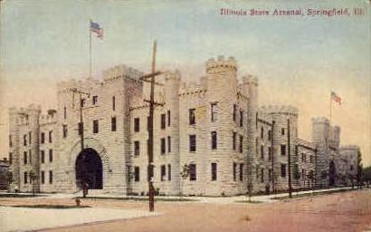 Illinois State Arsenal - Springfield Postcard