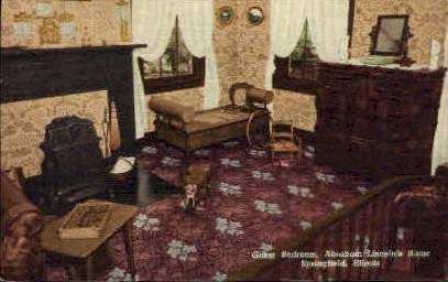 Guest Bedroom, Lincolns Home - Springfield, Illinois IL Postcard