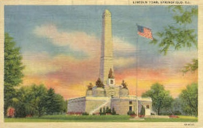 Lincoln Tomb - Springfield, Illinois IL Postcard