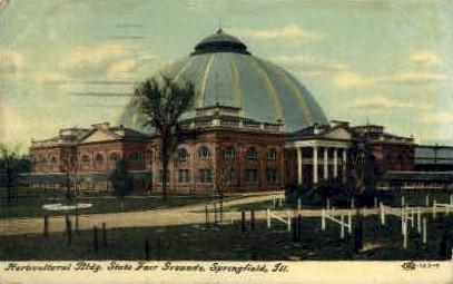 Horticultural Bldg. - Springfield, Illinois IL Postcard
