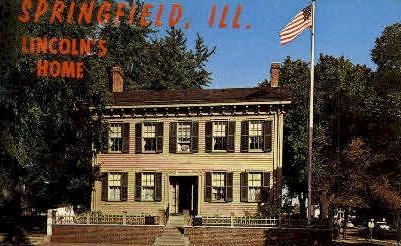 Lincolns Home - Springfield, Illinois IL Postcard