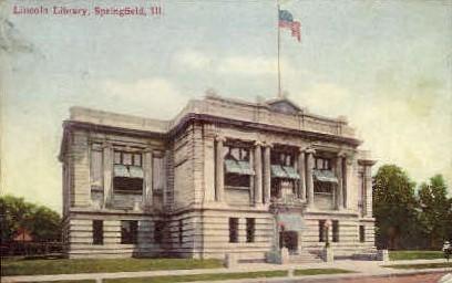 Lincoln Library - Springfield, Illinois IL Postcard
