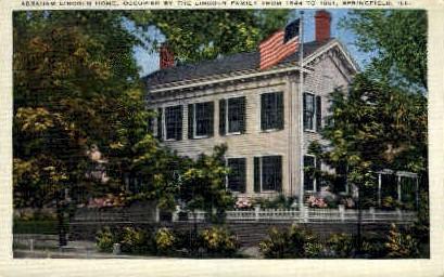 Abraham Lincoln Home - Springfield, Illinois IL Postcard