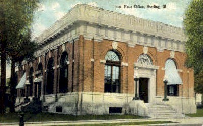 Post Office - Sterling, Illinois IL Postcard