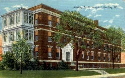 Public Hospital - Sterling, Illinois IL Postcard