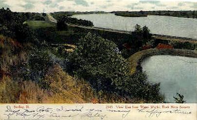 Rock River  - Sterling, Illinois IL Postcard