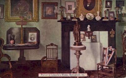 Parlor of Lincolns Home - Springfield, Illinois IL Postcard