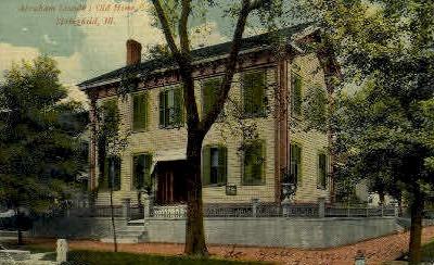 Abraham Lincolns Home - Springfield, Illinois IL Postcard