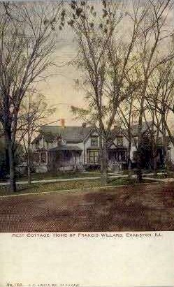 Home of Francis Willard - Evanston, Illinois IL Postcard