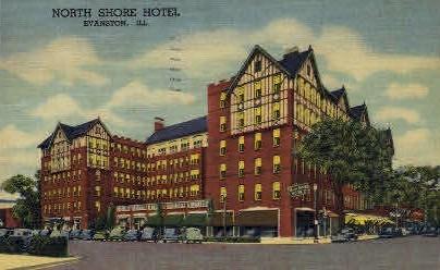 North Shore Hotel - Evanston, Illinois IL Postcard