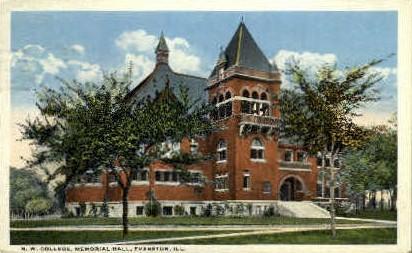 N.W. College - Evanston, Illinois IL Postcard