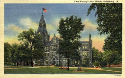 Knox County Court House - Galesburg, Illinois IL Postcard