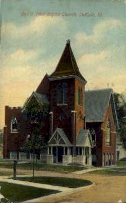 1st Baptist Church - DeKalb, Illinois IL Postcard