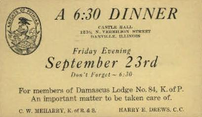 Danville, Illinois, IL Postcard