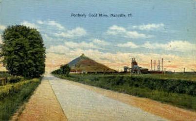 Peabody Coal Mine - Danville, Illinois IL Postcard