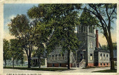 1st M.E. Church - Du Quoin, Illinois IL Postcard