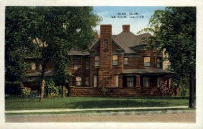 Elks Club - DeKalb, Illinois IL Postcard