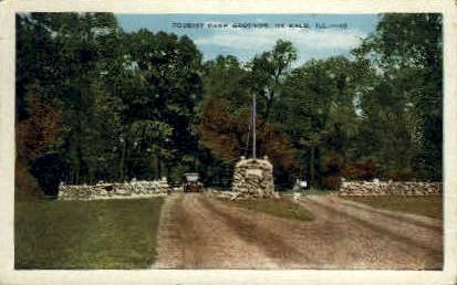 Tourist Camp - DeKalb, Illinois IL Postcard