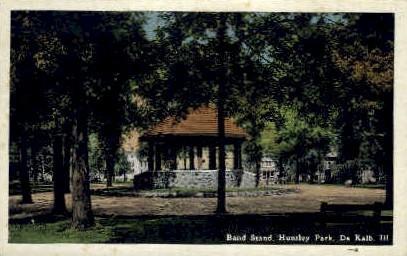 Band Stand - DeKalb, Illinois IL Postcard
