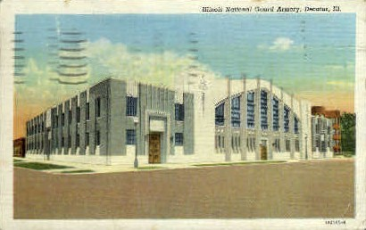 Illinois National Guard Armory - Decatur Postcard