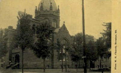 1st M.E. Church - Decatur, Illinois IL Postcard