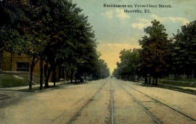 Vermillion St.  - Danville, Illinois IL Postcard
