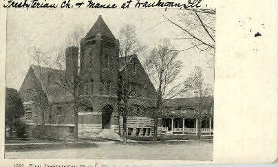1st Presbyterian Church - Waukegan, Illinois IL Postcard