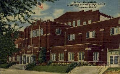 Waukegan Township High School - Illinois IL Postcard