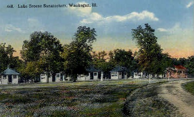 Lake Breeze Sanatorium - Waukegan, Illinois IL Postcard