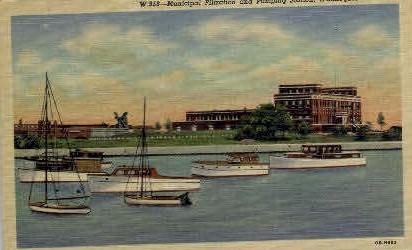 Municipal Filtration & Pumping Station - Waukegan, Illinois IL Postcard