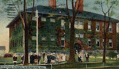 McAlister School - Waukegan, Illinois IL Postcard