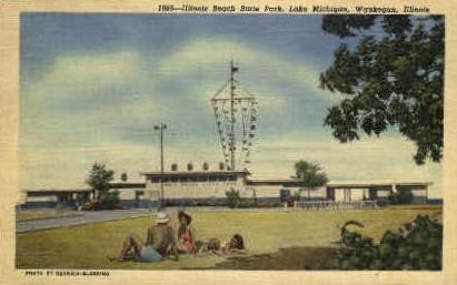 Illinois Beach State Park - Waukegan Postcard