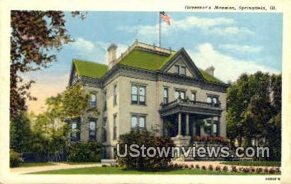 Governor's Mansion - Springfield, Illinois IL Postcard