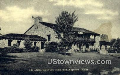 The Lodge, Giant City State Park - Makanda, Illinois IL Postcard