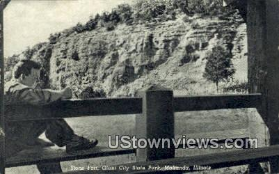 Stone Fort, Giant City State Park - Makanda, Illinois IL Postcard