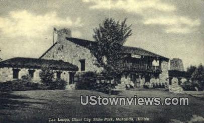 The Lodge, Giant City State Park - Makanda, Illinois IL Postcard
