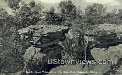 Devil's Stand Table, Giant City State Park - Makanda, Illinois IL Postcard