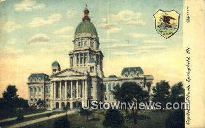 Capitol Bldg - Springfield, Illinois IL Postcard