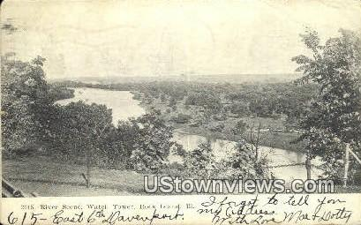 Watch Tower - Rock Island, Illinois IL Postcard
