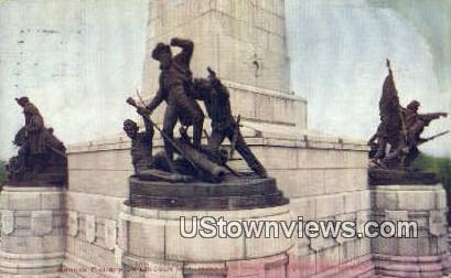 Bronze Figures, Lincoln Monument - Springfield, Illinois IL Postcard
