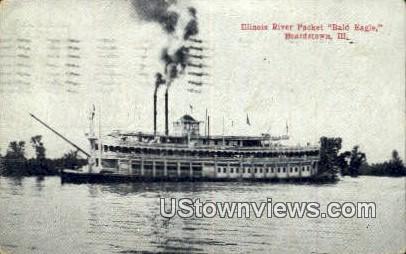 Illinois River Packet, Bald Eagle - Beardstown Postcard