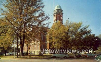 Court House - Lawrenceville, Illinois IL Postcard