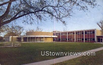 Stephen's Hall of Science, Aurora College - Illinois IL Postcard