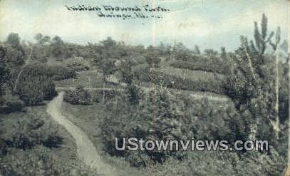 Indian Mounds Park - Quincy, Illinois IL Postcard