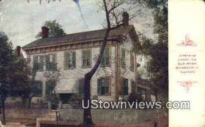 Abraham Lincoln's Old Home - Springfield, Illinois IL Postcard